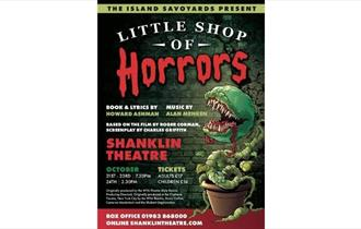 Little Shop of Horrors poster, Shanklin Theatre, What's On, Isle of Wight