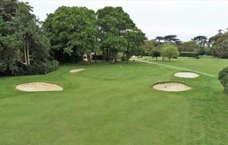 Aerial view of green at Osborne Golf Club, East Cowes, Things to Do