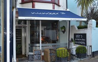 Outside view of Number 3, Cowes, restaurant