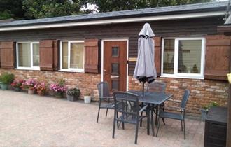 Outside view of Hillside Farm Retreats, Self catering, Isle of Wight