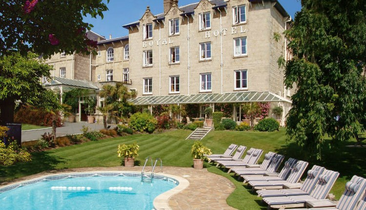 Swimming pool at The Royal Hotel, Ventnor, Isle of Wight Hotels