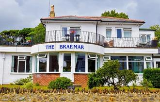 Outside, front view of The Braemar, Shanklin, B&B