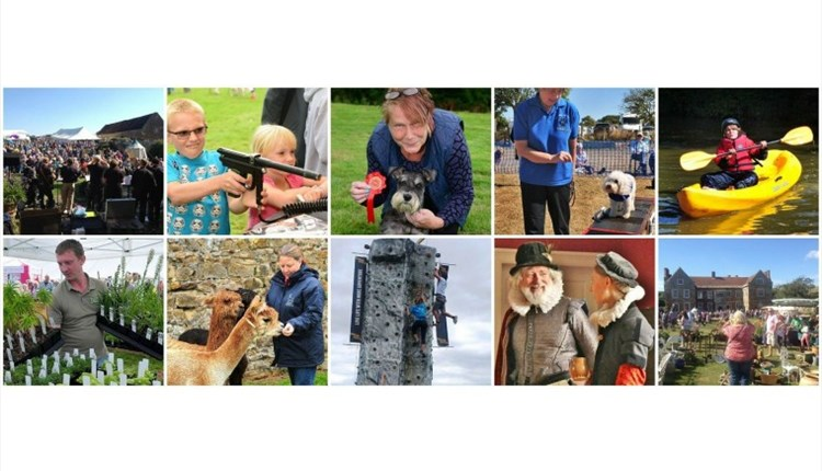 Isle of Wight, Things to Do, garden Fair, Wolverton manor, collage of images from other years.
