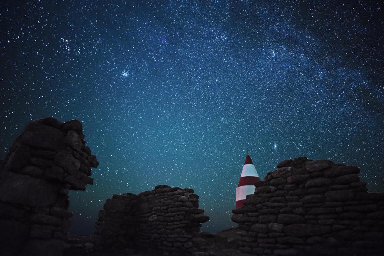 Daymark dark skies and stars
