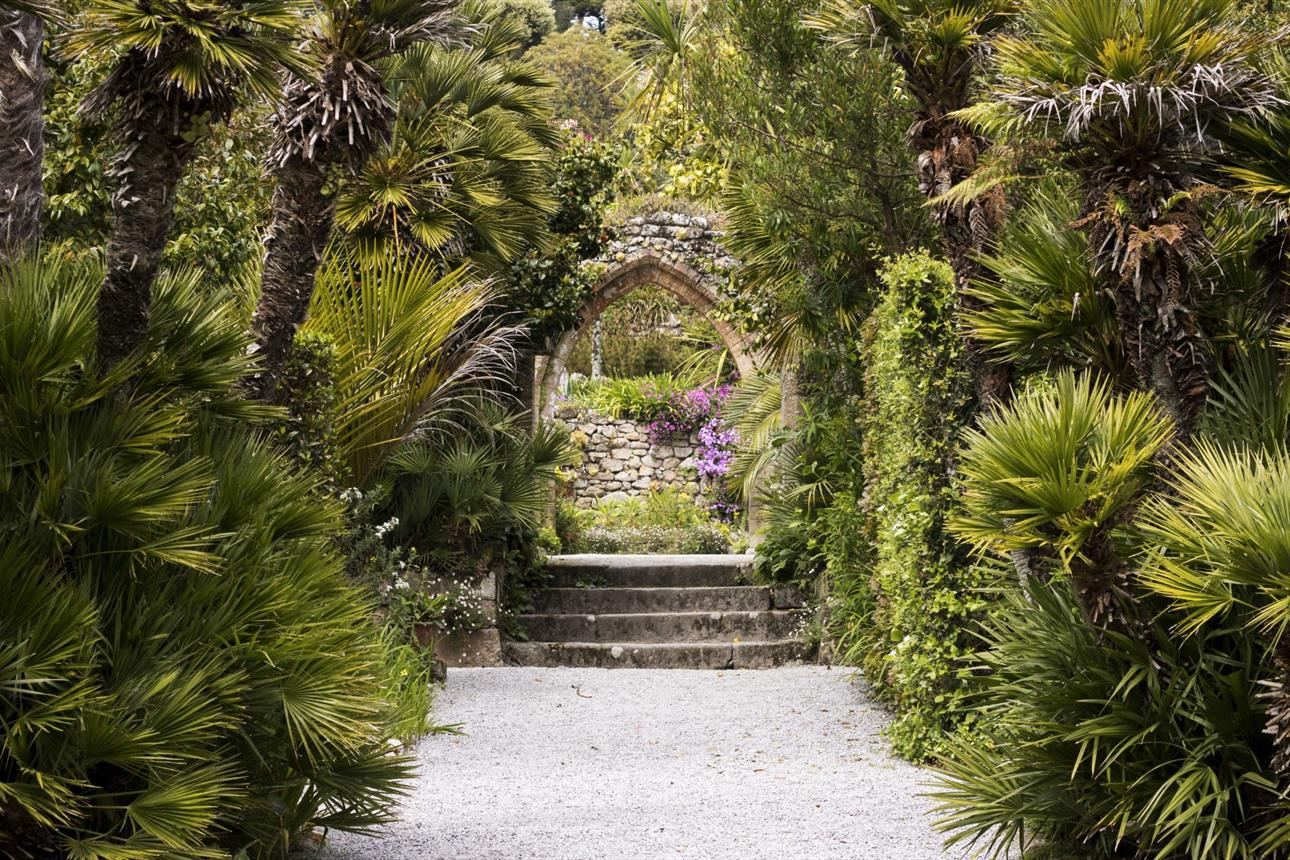 The Abbey Arch in Tresco Abbey Garden