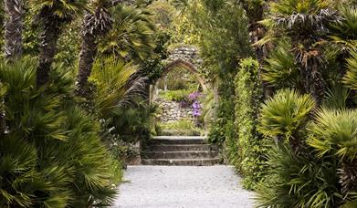The Abbey Arch in Tresco Abbey Garden