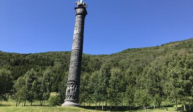 The Saga Column - Elveseter. Photo: Mari Arnøygard Wedum