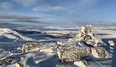 Topptur på ski til Kvitingskjølen, Lom Jotunheimen