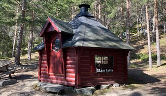The Skim cabin - a barbeque cabin near the centre.