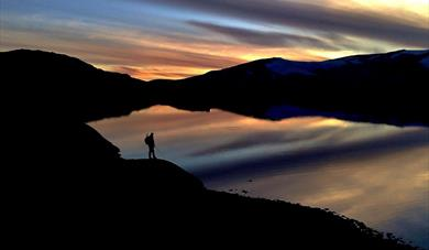 Beautiful colours at sunset at Sognefjellet.