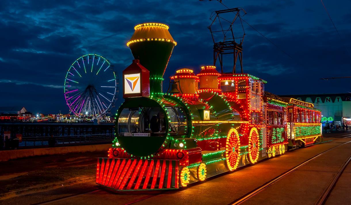 Blackpool Illuminations tram