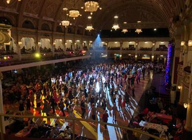 Dancing in Empress Ballroom from World Dance Masters