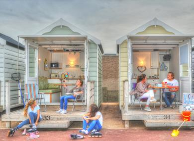 Families using St Annes Beach Huts