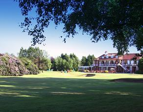 Golf course and club house