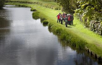 Walkers beside the canal