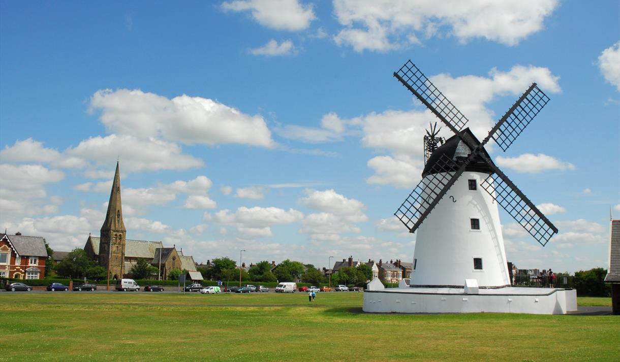 Lytham Windmill on clear sunny day