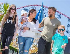 Family at Pleasure Beach