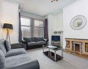 Living room, Raikes Apartments