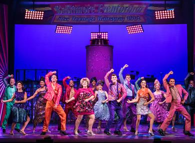 Hairspray cast on stage