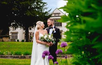 Couple at Mitton Hall
