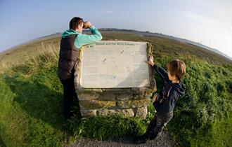 Information board at Wyre Estuary Country Park