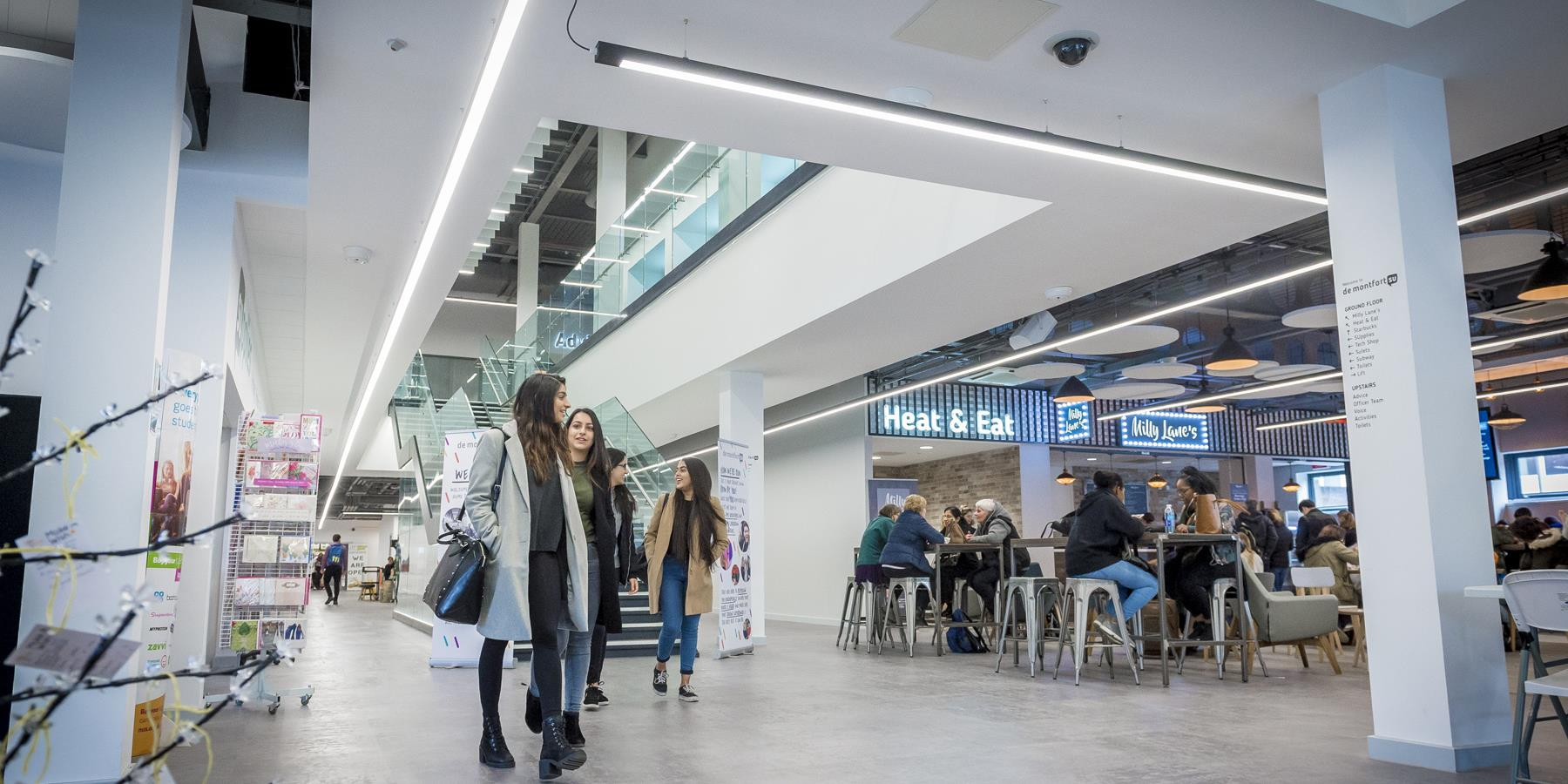 Find out about the three universities located in the city and county, with a combined student population of over 35,000 - Loughborough University, De Montfort University and the University of Leicester.