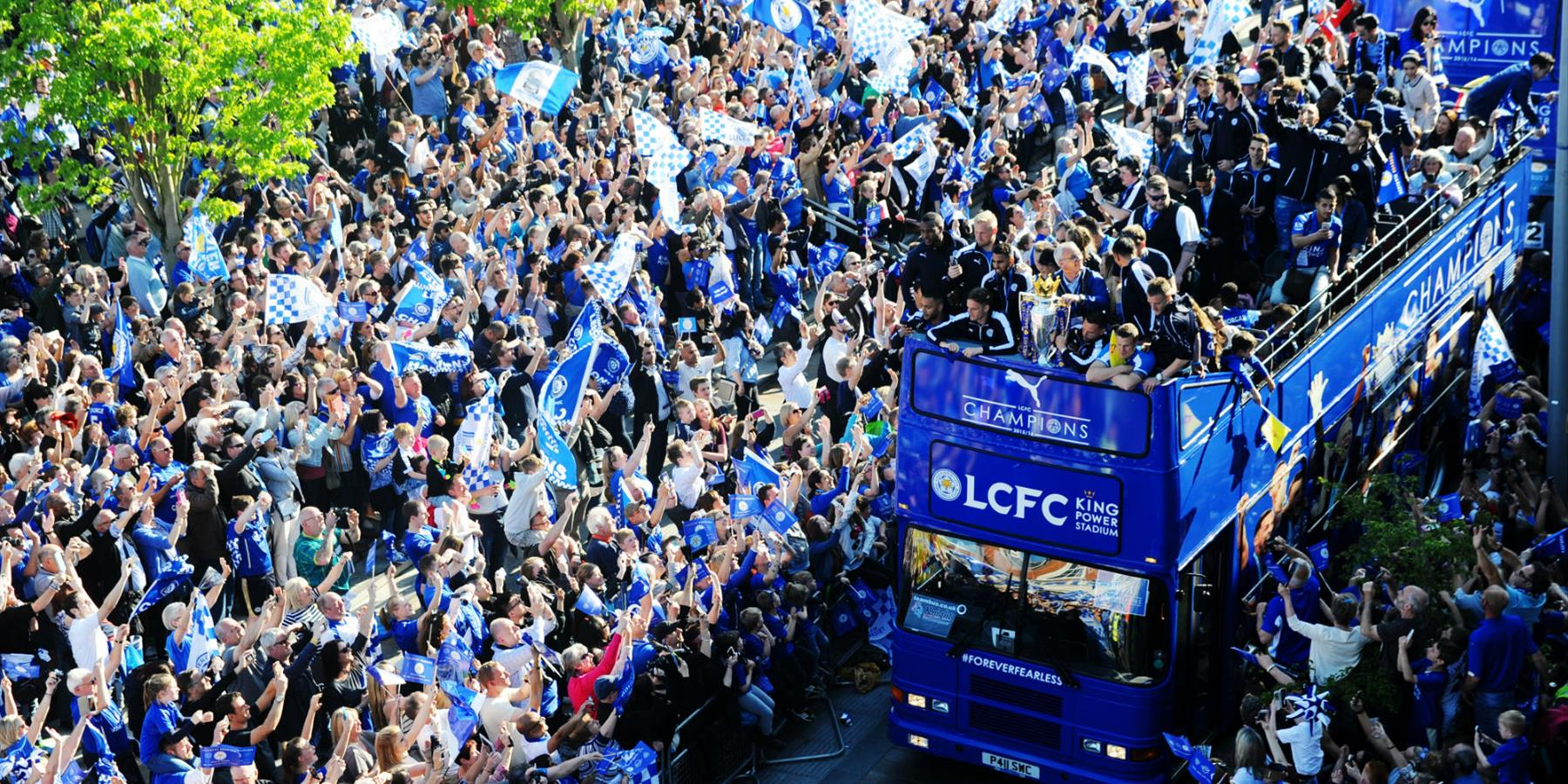 Sport, Football, LCFC Victory Parade, 16 May 2016