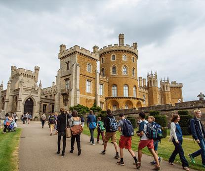 Belvoir Castle exterior - with people