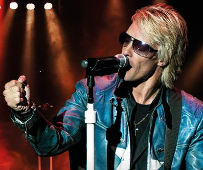 Bon Jovi tribute act on stage