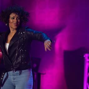 Whitney Houston tribute act on stage