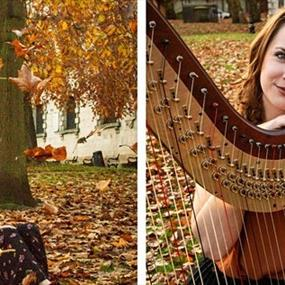 Emily Hopper with her harp