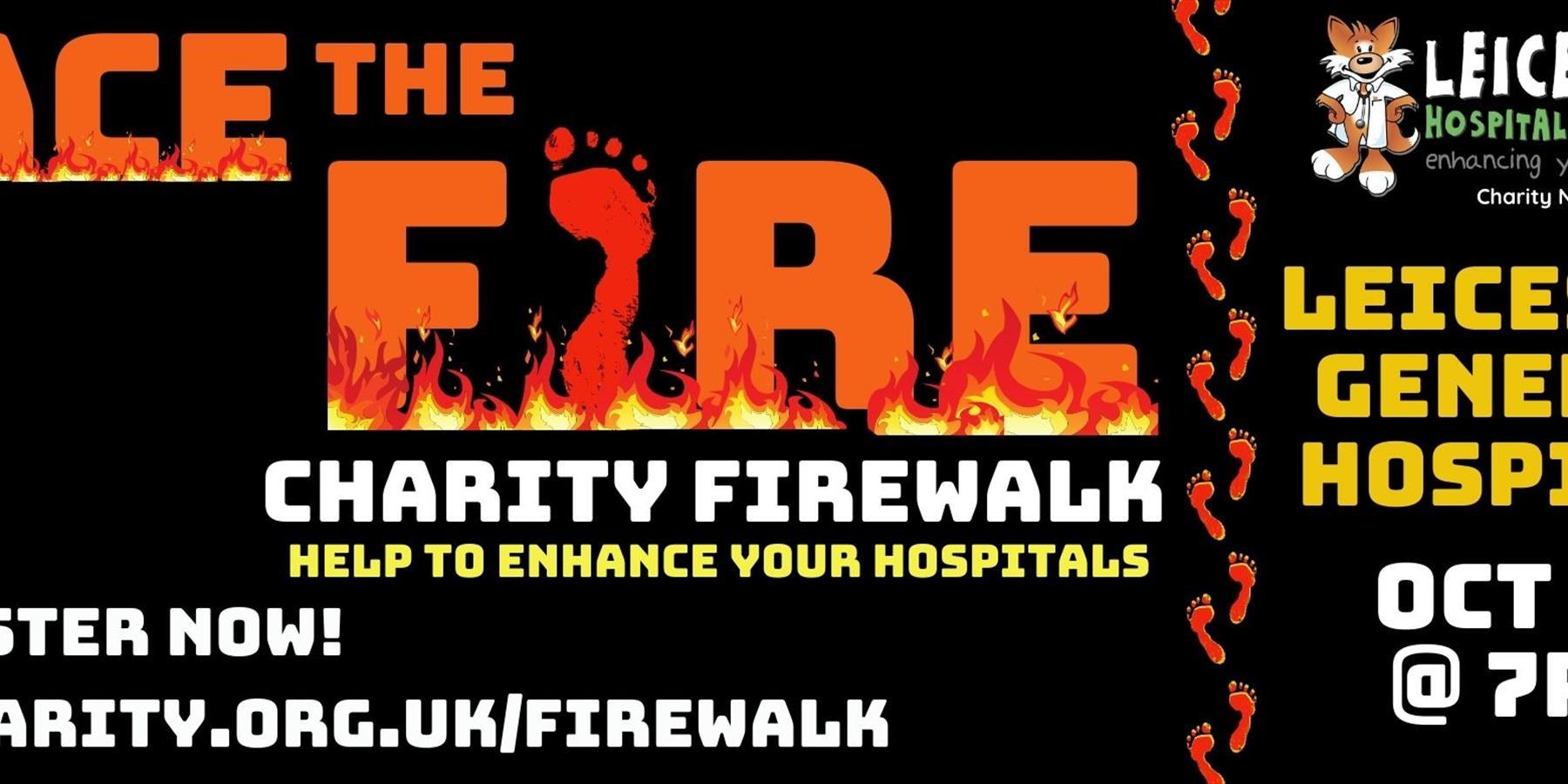 Charity firewalk poster