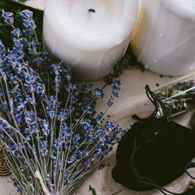 Herbs and candles