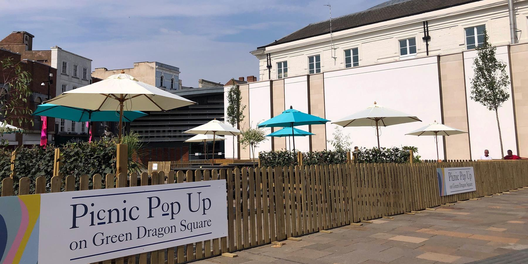 picnic pop up on green dragon square