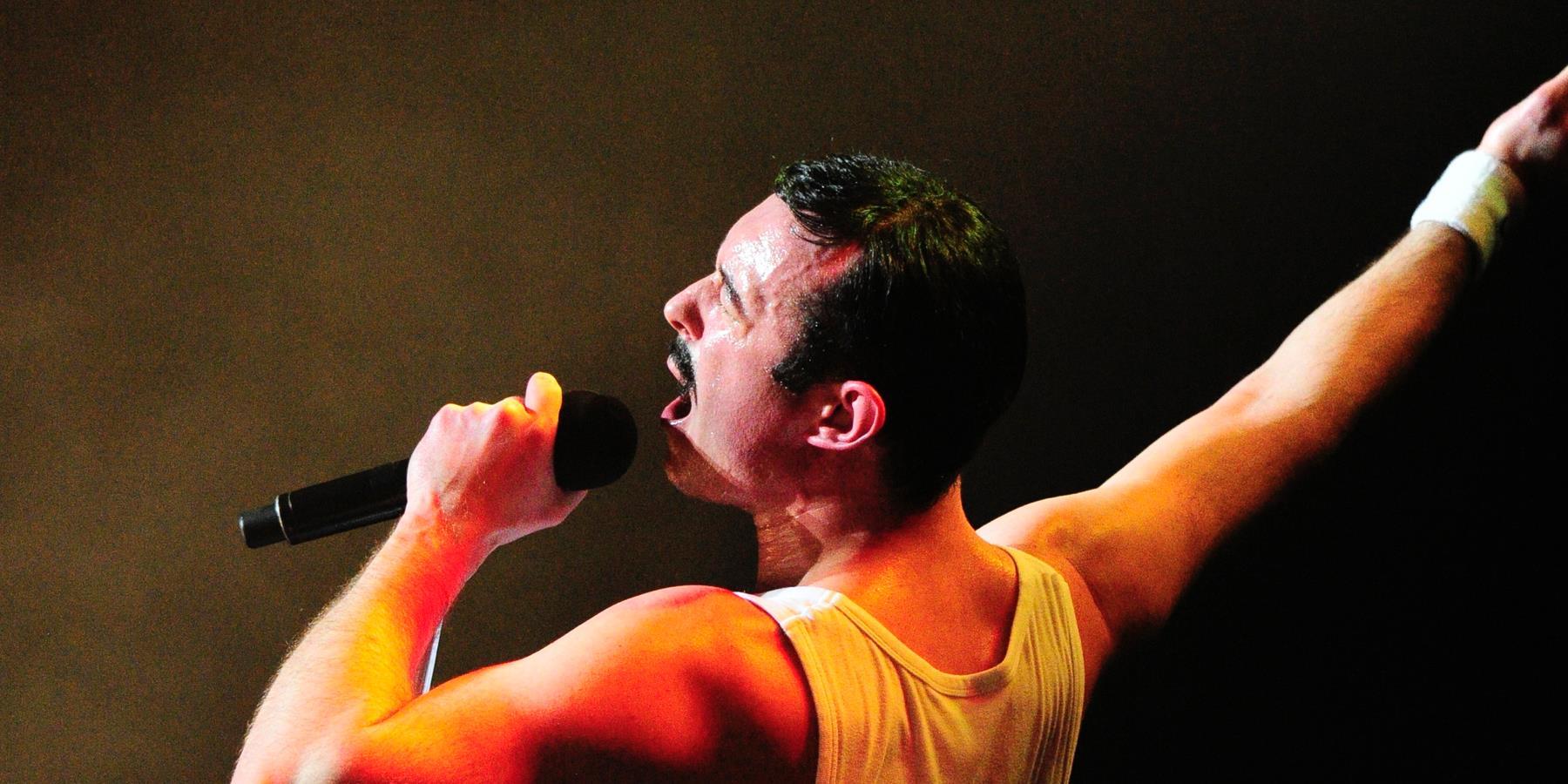 A man dressed as Freddie Mercury