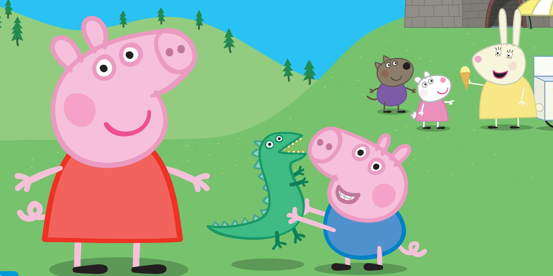 Peppa Pig and George the Pig
