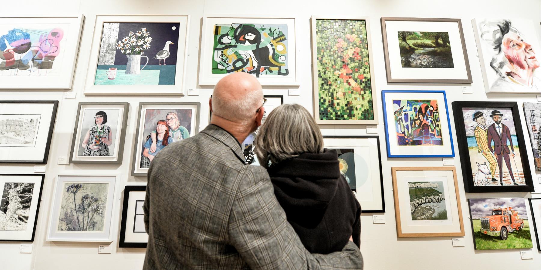 Couple enjoying the open exhibition