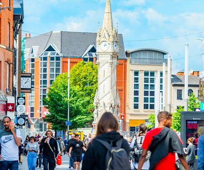 Leicester city centre shopping