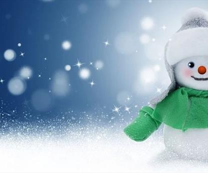 A cartoon snowman