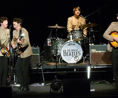 The Upbeat Beatles on stage