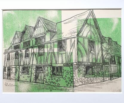 A printed image of the Guildhall