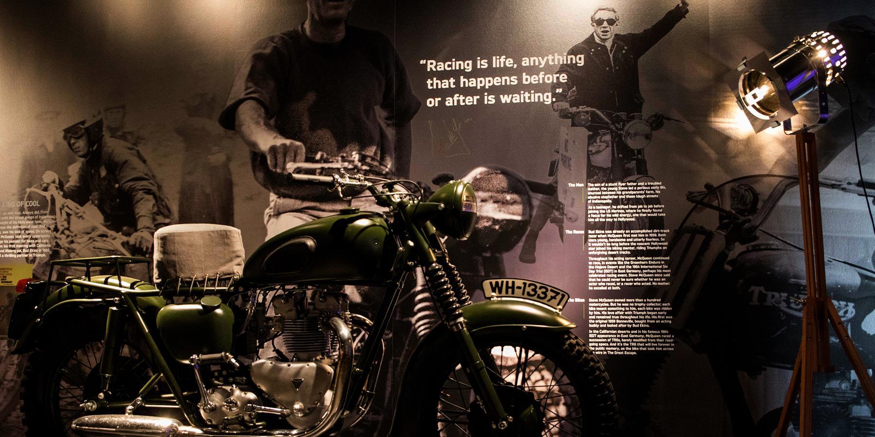 triumph visitor centre bike