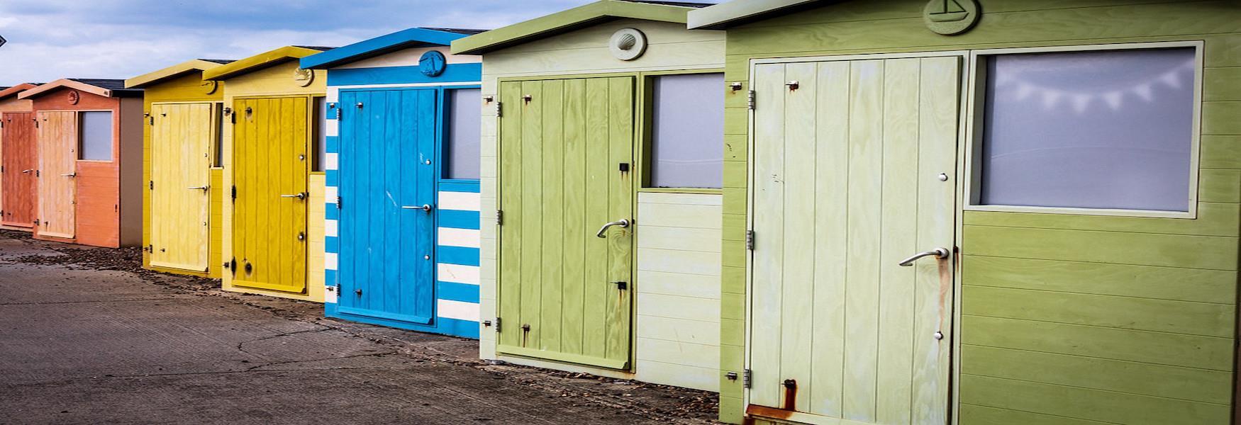 Beach Huts at Seaford Beach - Nigel French