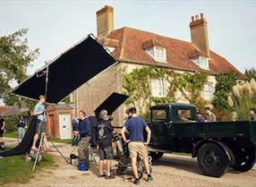 Filming at Charleston Farmhouse