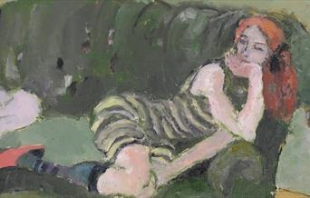 painting of reclining woman