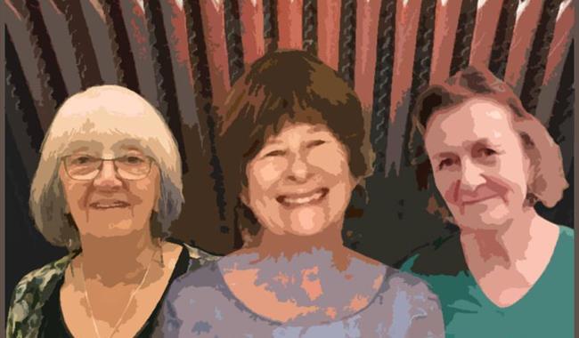 Iris Bishop, Marilyn Bennett, Sue Gates, Lewes Saturday Folk Club