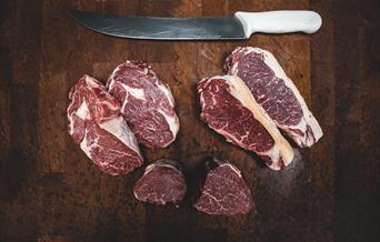 Steaks on the butchers block