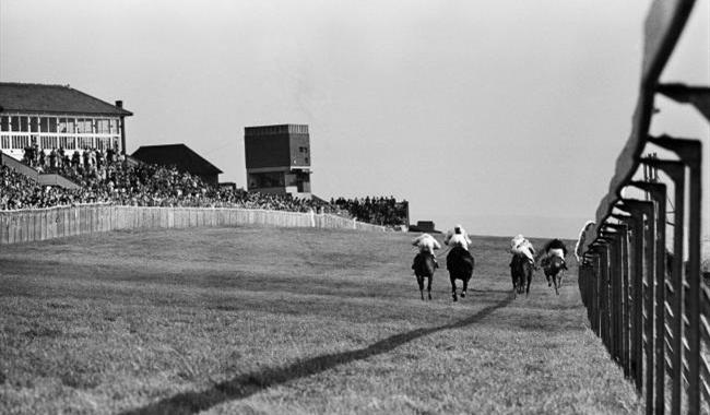 Black & white photo of the Old Racecourse