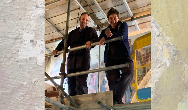 Conservation and Cleaning of the Berwick Church Murals: Challenges and Insights an illustrated presentation by Lisa Shekede and Stephen Rickerby
