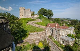 View of Lewes Castle